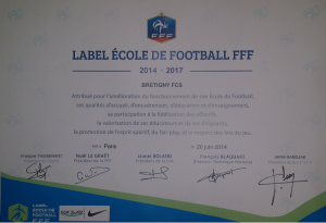 Label ecole de foot 20062014