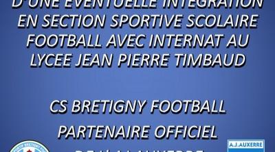 Club Sportif de Brétigny Football fiche de presentation section sportives scolaires