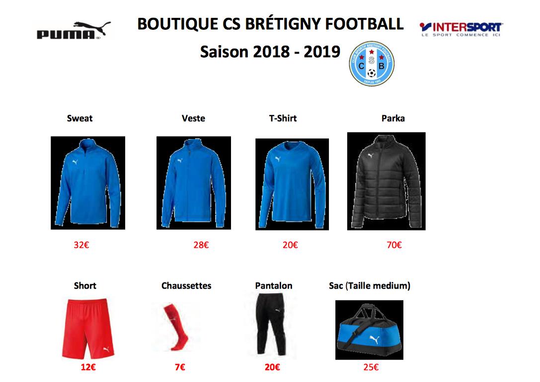 CS Brétigny Football | La boutique du club est en ligne CS